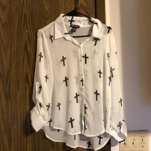 About A Girl Los Angeles Cross Blouse